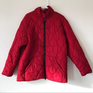 Tommy Hilfiger Red Quilted Puffer Jacket
